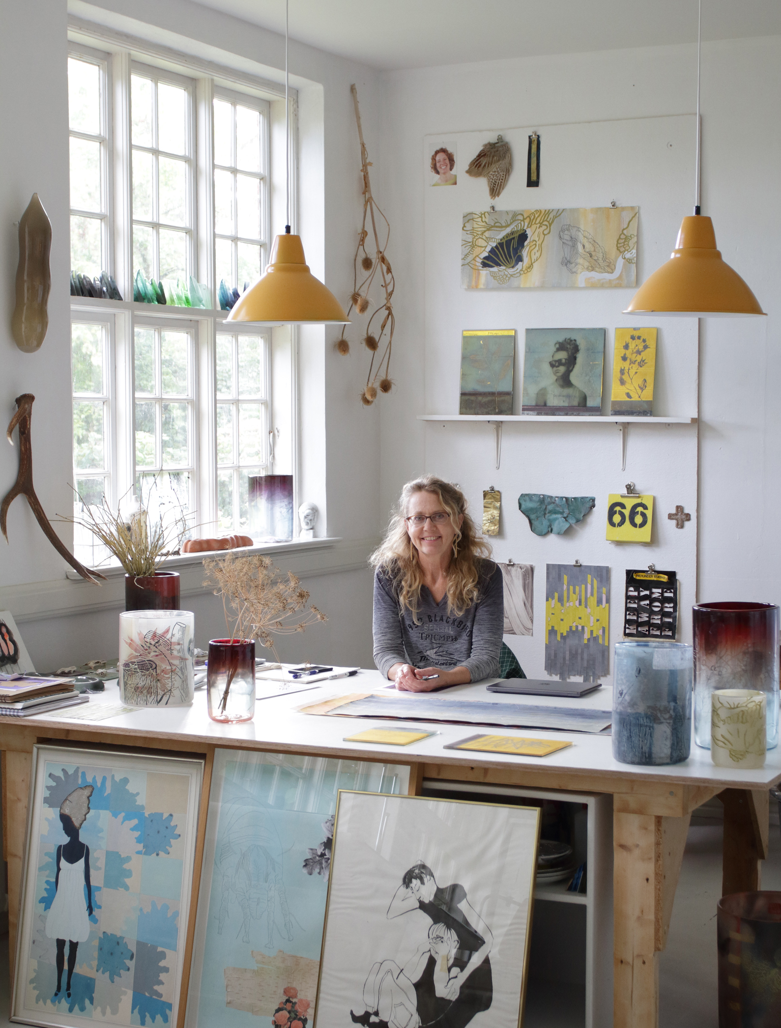 Micha Karlslund in her studio